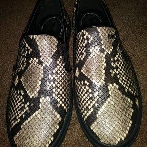 Michael Kors Keaton Snake print Leather loafers, 8